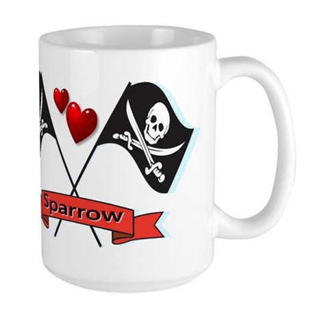 I heart Sparrow Large Mug