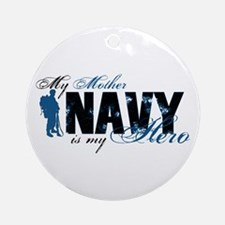 Mother Hero3 - Navy Ornament (Round)