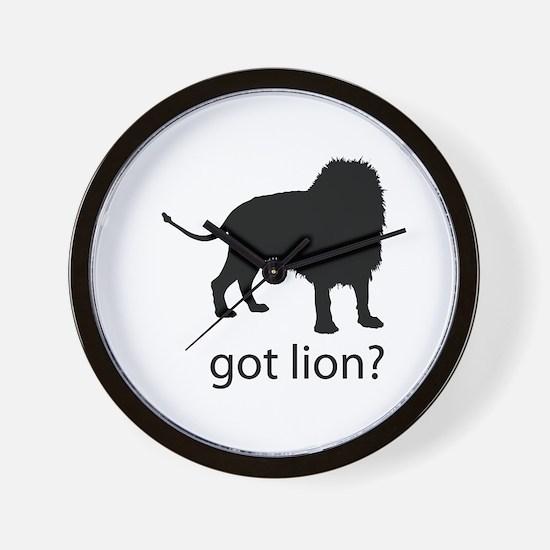 Got lion? Wall Clock