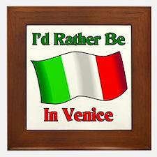 I'd Would Rather Be In Venice Framed Tile