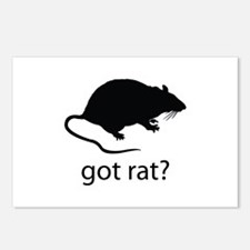 Got rat? Postcards (Package of 8)