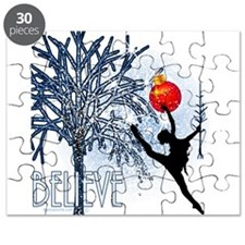 Dancers Christmas Tree by DanceShirts.com Puzzle