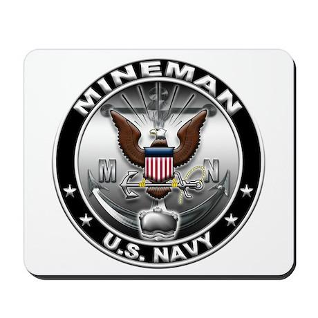 USN Mineman Eagle MN Mousepad