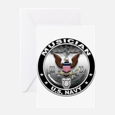 USN Musician Eagle MU Greeting Card