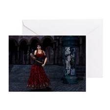 Day of the Dead Crimson Eveni Greeting Card
