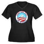 War On Women Women's Plus Size V-Neck Dark T-Shirt