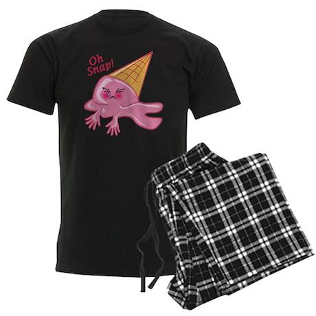 Oh Snap Funny Ice Cream Men's Dark Pajamas