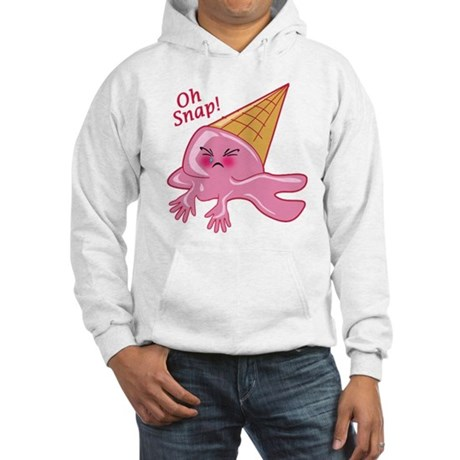 Oh Snap Funny Ice Cream Hooded Sweatshirt