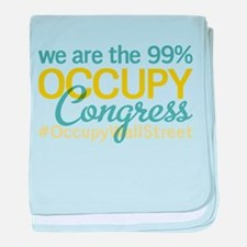 Occupy Congress baby blanket