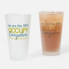 Occupy Everywhere Drinking Glass