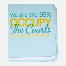 Occupy The Courts baby blanket