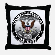 USN Culinary Specialist Eagle Throw Pillow