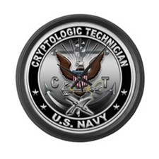 USN Cryptologic Technician Ea Large Wall Clock