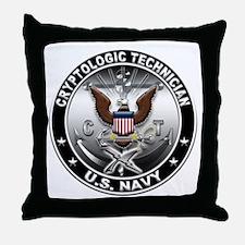 USN Cryptologic Technician Ea Throw Pillow
