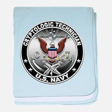 USN Cryptologic Technician Ea baby blanket