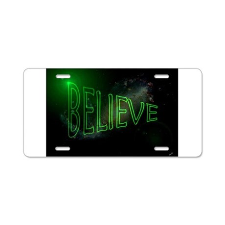Jmcks I Believe Aluminum License Plate