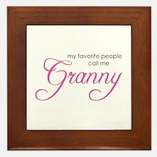 Favorite People Call me Grann Framed Tile