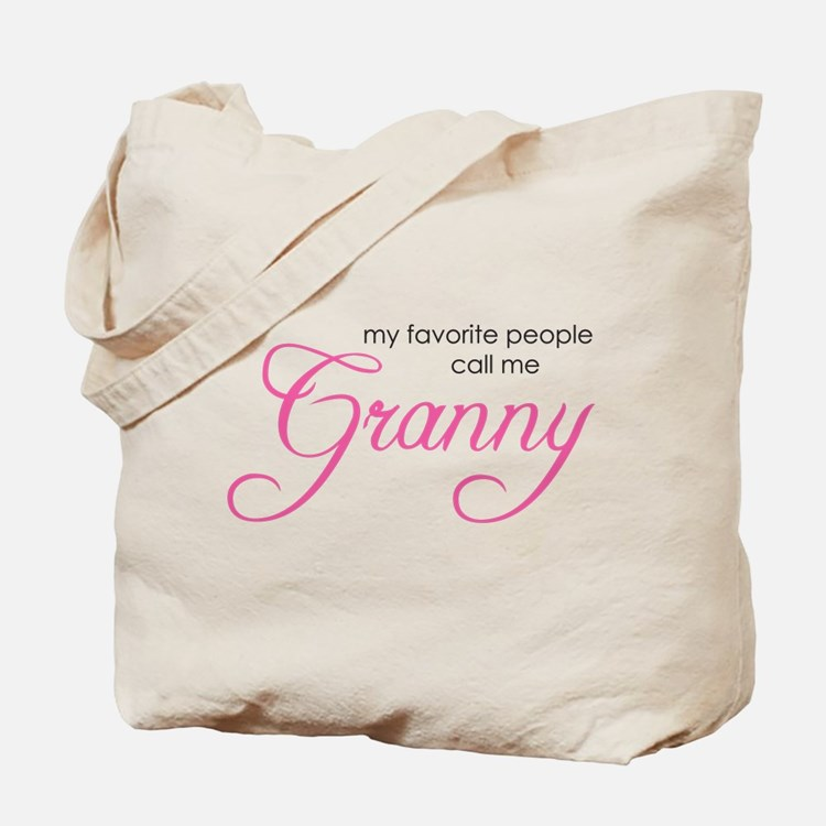 Favorite People Call me Grann Tote Bag