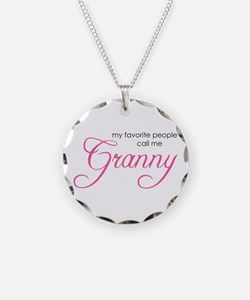 Favorite People Call me Grann Necklace