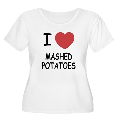 I heart mashed potatoes Women's Plus Size Scoop Ne
