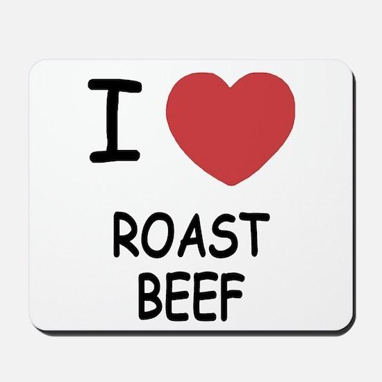 I heart roast beef Mousepad