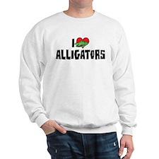 I Love Alligators Sweatshirt