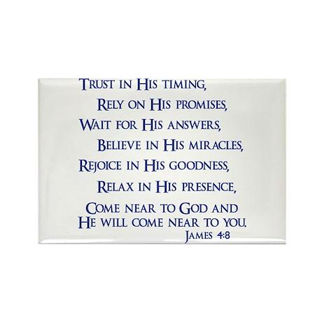 James 4:8 Rectangle Magnet