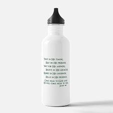 James 4:8 Water Bottle
