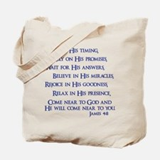 James 4:8 Tote Bag