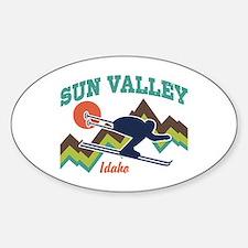Sun Valley Idaho Sticker (Oval)