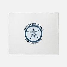 Nantucket MA - Sand Dollar Design Throw Blanket
