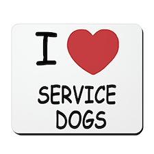 I heart service dogs Mousepad
