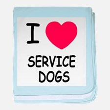 I heart service dogs baby blanket
