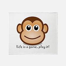 Unique Monkey man Throw Blanket