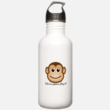 Funny Monkey man Water Bottle