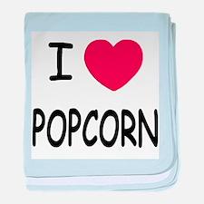 I heart popcorn baby blanket