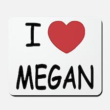I heart megan Mousepad