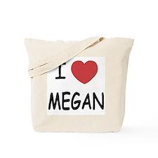 I heart megan Tote Bag