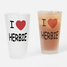 I heart herbie Drinking Glass