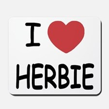 I heart herbie Mousepad