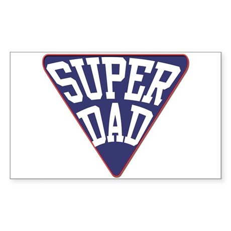 Super Dad Rectangle Sticker