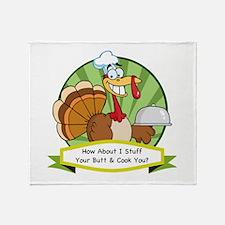 Turkey Butt Throw Blanket