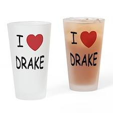 I heart drake Drinking Glass