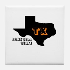 TX LONE STAR STATE Tile Coaster