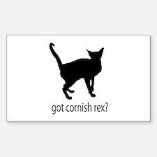 Got cornish rex? Sticker (Rectangle)
