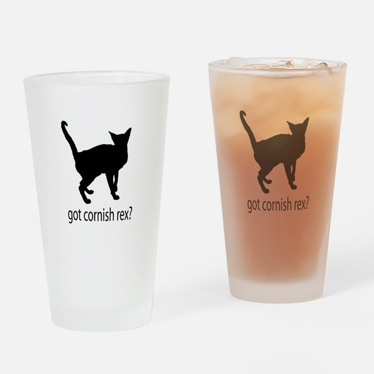 Got cornish rex? Drinking Glass