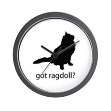 Got ragdoll? Wall Clock