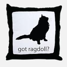 Got ragdoll? Throw Pillow