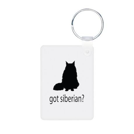 Got siberian? Aluminum Photo Keychain