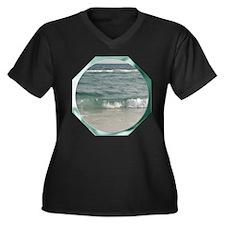 Surf Women's Plus Size V-Neck Dark T-Shirt